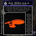 USS Enterprise D9 Decal Sticker Orange Vinyl Emblem 120x120