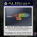 USS Enterprise D9 Decal Sticker Sparkle Glitter Vinyl 120x120