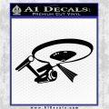 USS Enterprise Tractor Beam Decal Sticker Black Logo Emblem 120x120