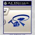 USS Enterprise Tractor Beam Decal Sticker Blue Vinyl 120x120