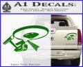 USS Enterprise Tractor Beam Decal Sticker Green Vinyl 120x97