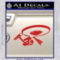 USS Enterprise Tractor Beam Decal Sticker Red Vinyl 120x120