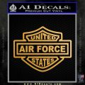 United States Air Force Motorcycle Shield Decal Sticker Metallic Gold Vinyl Vinyl 120x120