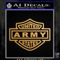United States Army Motorcycle Shield Decal Sticker Metallic Gold Vinyl Vinyl 120x120