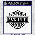 United States Marines Motorcycle Shield Decal Sticker Black Logo Emblem 120x120