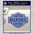 United States Marines Motorcycle Shield Decal Sticker Blue Vinyl 120x120