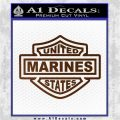 United States Marines Motorcycle Shield Decal Sticker Brown Vinyl 120x120