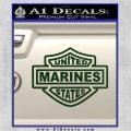 United States Marines Motorcycle Shield Decal Sticker Dark Green Vinyl 120x120