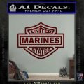United States Marines Motorcycle Shield Decal Sticker Dark Red Vinyl 120x120