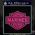 United States Marines Motorcycle Shield Decal Sticker Hot Pink Vinyl 120x120