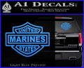 United States Marines Motorcycle Shield Decal Sticker Light Blue Vinyl 120x97