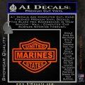 United States Marines Motorcycle Shield Decal Sticker Orange Vinyl Emblem 120x120