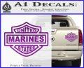 United States Marines Motorcycle Shield Decal Sticker Purple Vinyl 120x97