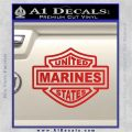 United States Marines Motorcycle Shield Decal Sticker Red Vinyl 120x120