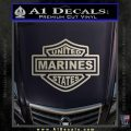 United States Marines Motorcycle Shield Decal Sticker Silver Vinyl 120x120