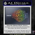 United States Marines Motorcycle Shield Decal Sticker Sparkle Glitter Vinyl 120x120