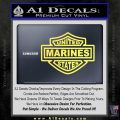 United States Marines Motorcycle Shield Decal Sticker Yelllow Vinyl 120x120