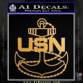 United States Navy INT USN Anchor Decal Sticker Metallic Gold Vinyl Vinyl 120x120