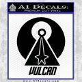 Vulcan Logo Spock TXT Decal Sticker Black Logo Emblem 120x120