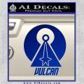 Vulcan Logo Spock TXT Decal Sticker Blue Vinyl 120x120