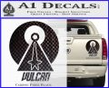 Vulcan Logo Spock TXT Decal Sticker Carbon Fiber Black 120x97