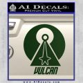 Vulcan Logo Spock TXT Decal Sticker Dark Green Vinyl 120x120