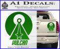 Vulcan Logo Spock TXT Decal Sticker Green Vinyl 120x97