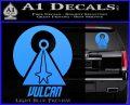 Vulcan Logo Spock TXT Decal Sticker Light Blue Vinyl 120x97