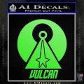 Vulcan Logo Spock TXT Decal Sticker Lime Green Vinyl 120x120