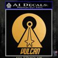 Vulcan Logo Spock TXT Decal Sticker Metallic Gold Vinyl Vinyl 120x120