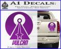 Vulcan Logo Spock TXT Decal Sticker Purple Vinyl 120x97