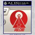 Vulcan Logo Spock TXT Decal Sticker Red Vinyl 120x120