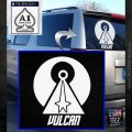 Vulcan Logo Spock TXT Decal Sticker White Emblem 120x120