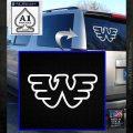Waylon Jennings Decal Sticker White Emblem 120x120