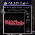 We The People Decal Sticker Pink Vinyl Emblem 120x120