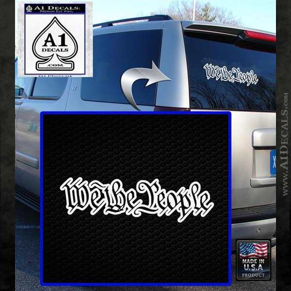 We The People Decal Sticker White Emblem