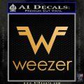 Weezer Rock Band Vinyl Decal Sticker Metallic Gold Vinyl Vinyl 120x120