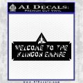 Welcome to the Klingon Empire Decal Sticker Star Trek Black Logo Emblem 120x120