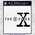 X Files Logo RDZ Decal Sticker Black Logo Emblem 120x120
