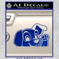 101 Dalmations Pup Decal Sticker Blue Vinyl 120x120