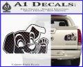 101 Dalmations Pup Decal Sticker Carbon Fiber Black 120x97