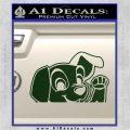 101 Dalmations Pup Decal Sticker Dark Green Vinyl 120x120