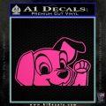 101 Dalmations Pup Decal Sticker Hot Pink Vinyl 120x120