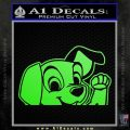101 Dalmations Pup Decal Sticker Lime Green Vinyl 120x120