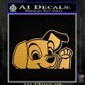 101 Dalmations Pup Decal Sticker Metallic Gold Vinyl 120x120