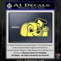 101 Dalmations Pup Decal Sticker Yelllow Vinyl 120x120