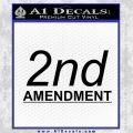 2nd amendment gun control Decal Sticker Black Vinyl 120x120
