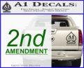 2nd amendment gun control Decal Sticker Green Vinyl Logo 120x97