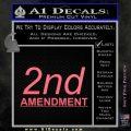 2nd amendment gun control Decal Sticker Pink Emblem 120x120