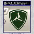 3rd Marine Division Decal Sticker Dark Green Vinyl 120x120